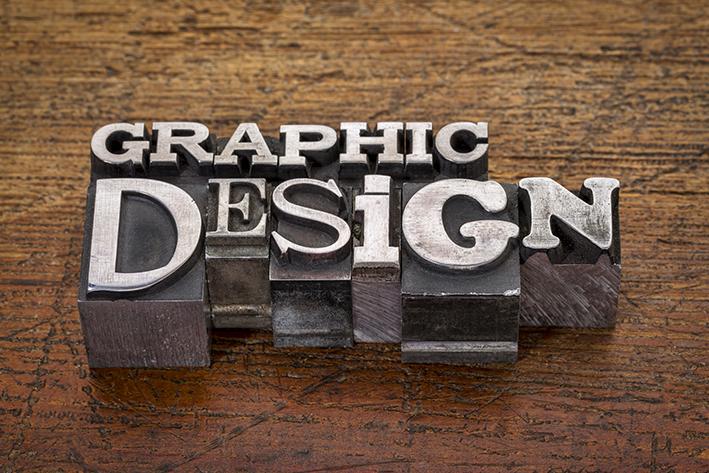 Grafisk design med metaltypsnitt