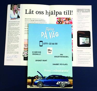 Folder, tryckt av Wasa Grafiska i Stockholm