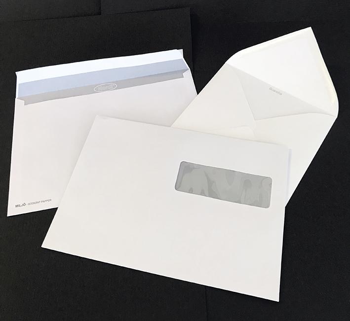 Kuvert trycks efter behov hos Wasa Grafiska