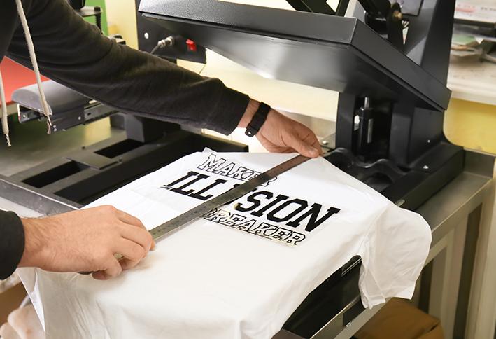 Print på t-shirt